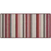 Double Stripes Washable Rectangular Rug