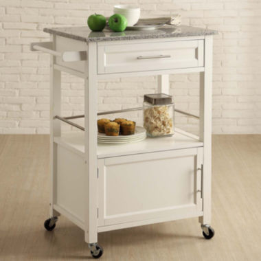 jcpenney.com | Brantley Granite Top Rolling Kitchen Cart with Towel Rack