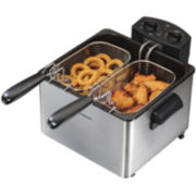 Hamilton Beach® Professional-Style Deep Fryer with 2 Baskets