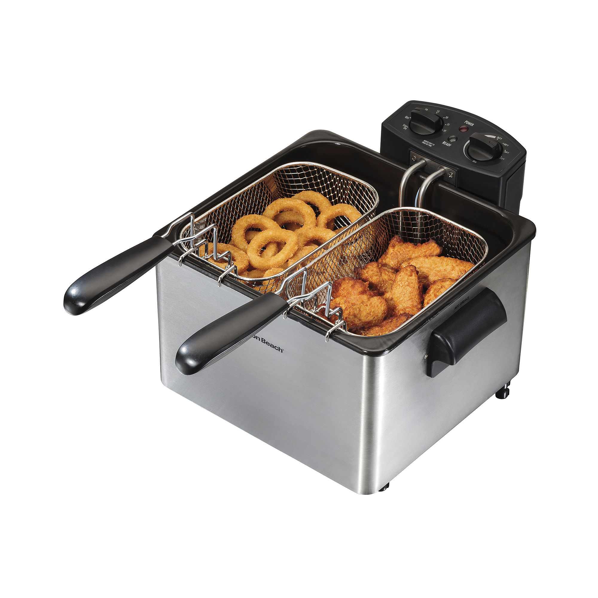 Hamilton Beach Professional-Style Deep Fryer with 2 Baskets