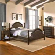 Briella Woven Bed with Nightstand and Chest