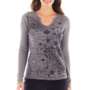 Made For Life™ Long-Sleeve Thermal Notch-Neck Top