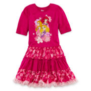 Disney Collection Princess Cap-Sleeve Dress – Girls 2-10