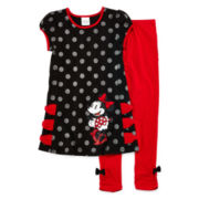Disney Red Minnie Mouse 2-pc. Dress and Leggings Set – Girls 2-10