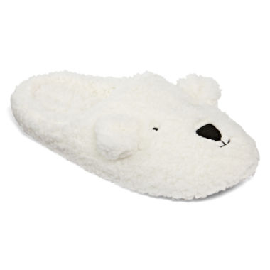 jcpenney.com | North Pole Trading Co Family Pajamas Sherpa Slip-On Slippers