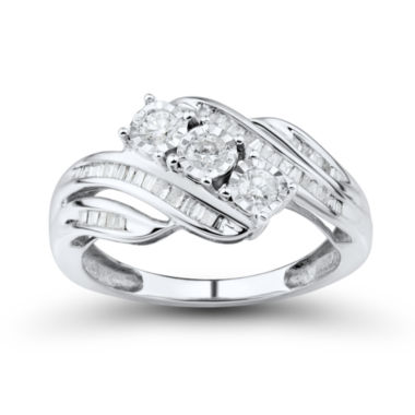 jcpenney.com | Love Lives Forever 1/2 CT. T.W. Round White Diamond 10K Gold 3-Stone Ring