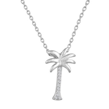 jcpenney.com | Womens White Diamond Accent Sterling Silver Pendant Necklace