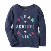 Carter's Girl Navy Dream Knit Tee 4-8