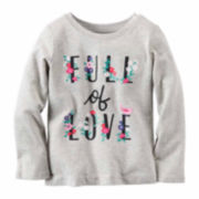Carter'S Girl Gray Love Knit Tee 4-8