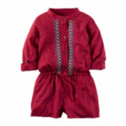 Carter's Girl Red Romper 4-8