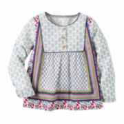 Carter's Girl Multi Print Woven Fashion Top 4-8