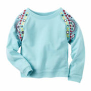 Carter's Girl Turq Knit Fashion Top 4-8