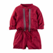 Carter's Girl Red Print Romper 2T-5T