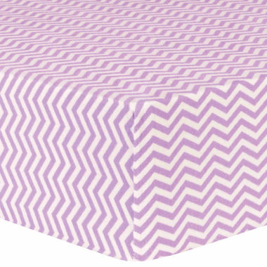 jcpenney.com | Trend Lab Lilac Chevron Delux Flannel  Crib Sheet