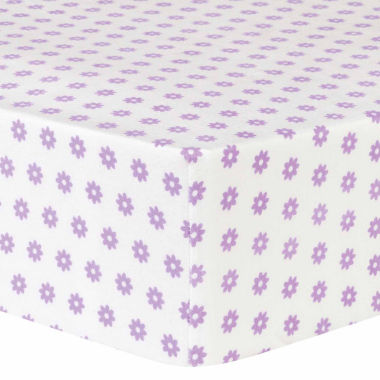 jcpenney.com | Trend Lab Lilac Flower Flannel  Crib Sheet