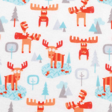 jcpenney.com | Trend Lab Winter Moose Flannel  Crib Sheet