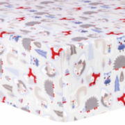 Trend Lab Lilac Winter Forest Flannel  Crib Sheet
