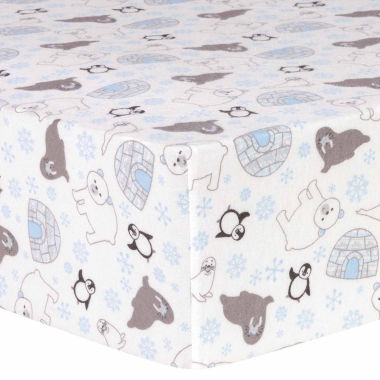 jcpenney.com | Trend Lab Igloo Friends Flannel  Crib Sheet