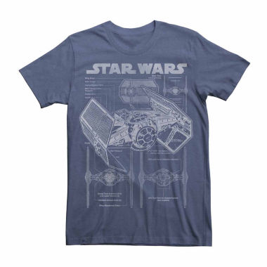 jcpenney.com | Star Wars: Force Awakens™ Short-Sleeve Astro Schematic T-Shirt