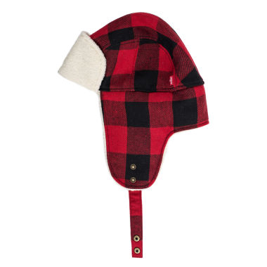 jcpenney.com | Levi's Black and Red Buffalo Check Trapper Hat