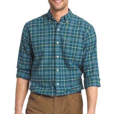 jcpenney.com | Izod® Long-Sleeve Plaid Button Front Shirt