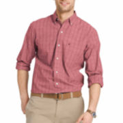 IZOD® Long-Sleeve Essential Windowpane Shirt