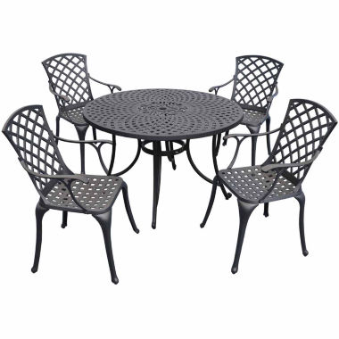 "jcpenney.com | Sedona Cast Aluminum 46"" 5-pc. Patio Dining Set"