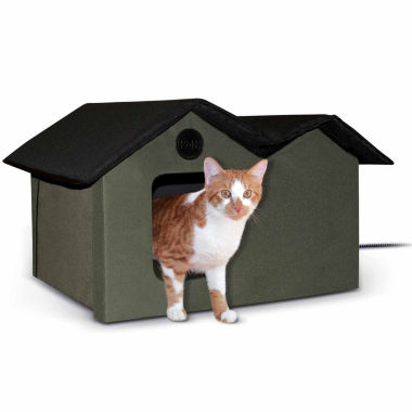 "jcpenney.com | K & H Manufacturing Outdoor Kitty House Extra-Wide heated, 26.5"" x 15.5"" x 21.5"""