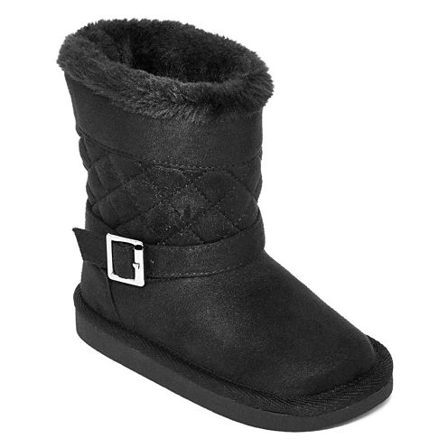 Okie Dokie® Ming Girls Quilted Boots - Toddler