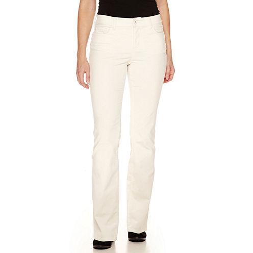 St. John's Bay® Secretly Slender Bootcut Corduroy Pants - Tall