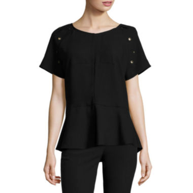 jcpenney.com | Worthington® Short-Sleeve Peplum Top - Tall