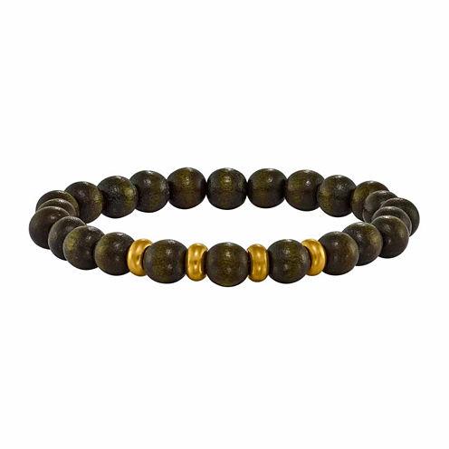 Mens Multi Color Multi Stone Brass Beaded Bracelet