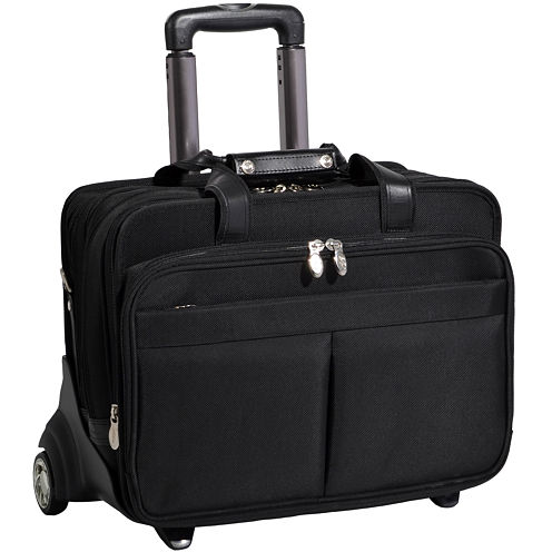 "McKleinUSA Roosevelt 17"" Nylon  Detachable -Wheeled Laptop Briefcase w/ Removable Sleeve"