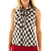 9 & Co.® Print Bow-Neck Blouse