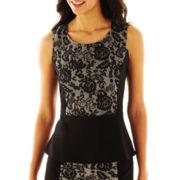 9 & Co.® Lace-Inset Peplum Blouse