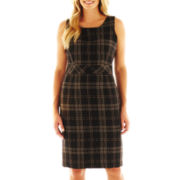 9 & Co.® Plaid Inset-Waist Dress