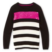Sally M™ Sally Miller Blingy Striped Sweater - Girls 6-16