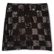 Sally M™ Sally Miller Sequin-Checked Skirt - Girls 6-16