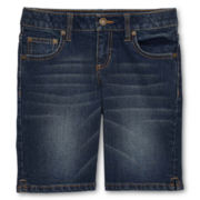 Arizona True Dark Denim Bermuda Shorts - Girls 6-16, Slim and Plus