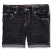 Arizona Popular Rinse Denim Midi Shorts - Girls 6-16, Slim and Plus