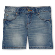 Arizona Famous Light Denim Midi Shorts - Girls 6-16, Slim and Plus