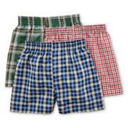 Hanes® Classics 3-pk. Plaid Boxers - Boys 4-20