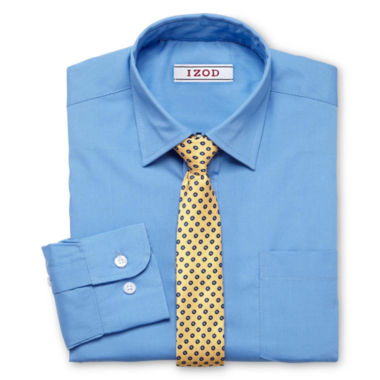 jcpenney.com | IZOD® Shirt and Clip-On Tie Set - Boys 8-20 and Husky