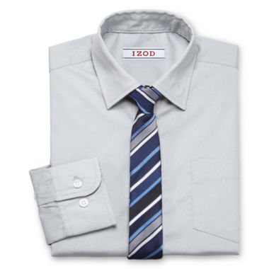 jcpenney.com | IZOD® Shirt and Clip-On Tie Set - Boys 7-20