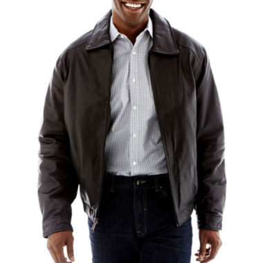 jcpenney.com | Excelled® Lambskin Leather Bomber Jacket