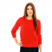 Joe Fresh™ Colorblocked Waffle-Knit Sweater