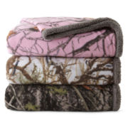 Scene Weaver™ True Timber Camo Sherpa Fleece Throw