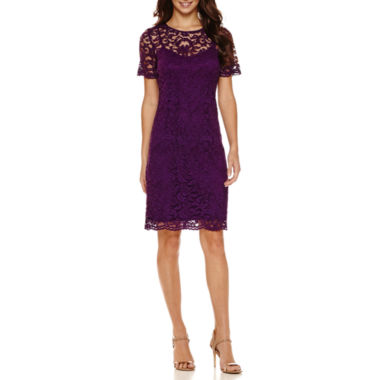 jcpenney.com | Be by CHETTA B Cap-Sleeve Lace Sheath Dress