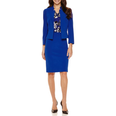 jcpenney.com | Chelsea Rose 3/4- Sleeve Open Jacket with Sleeveless Floral Blouse and Pencil Skirt