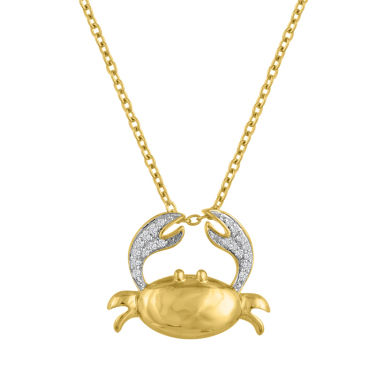 jcpenney.com | Womens White Diamond Accent Gold Over Silver Pendant Necklace